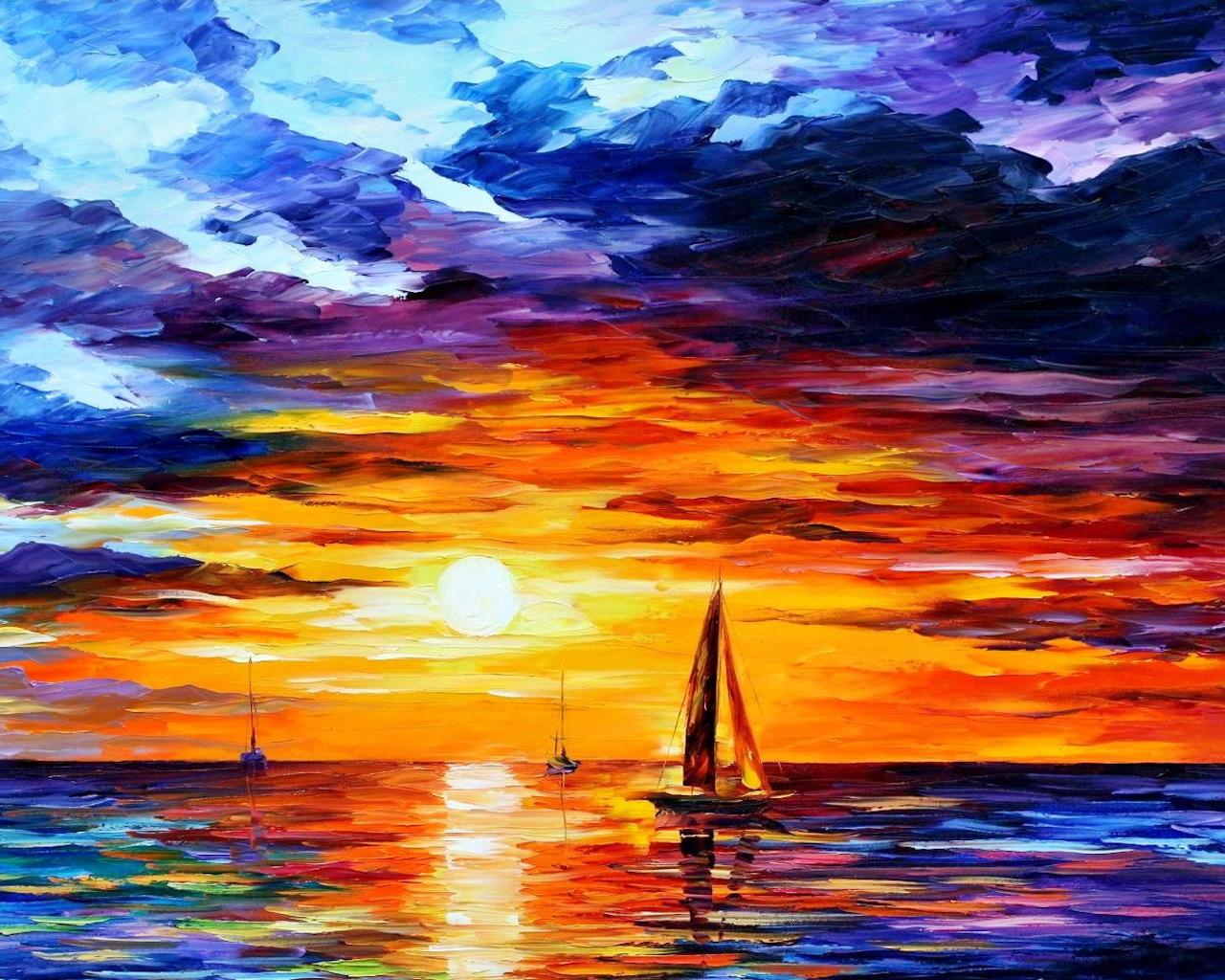 7557 économiseurs d'écran et fonds d'écran Art sur votre téléphone. Téléchargez Art, Paysage, Coucher De Soleil, Sky, Mer, Peintures images gratuitement