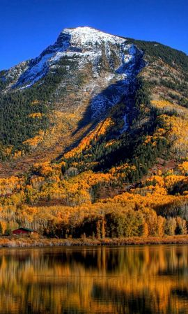 20104 скачать обои Пейзаж, Горы, Осень, Озера - заставки и картинки бесплатно