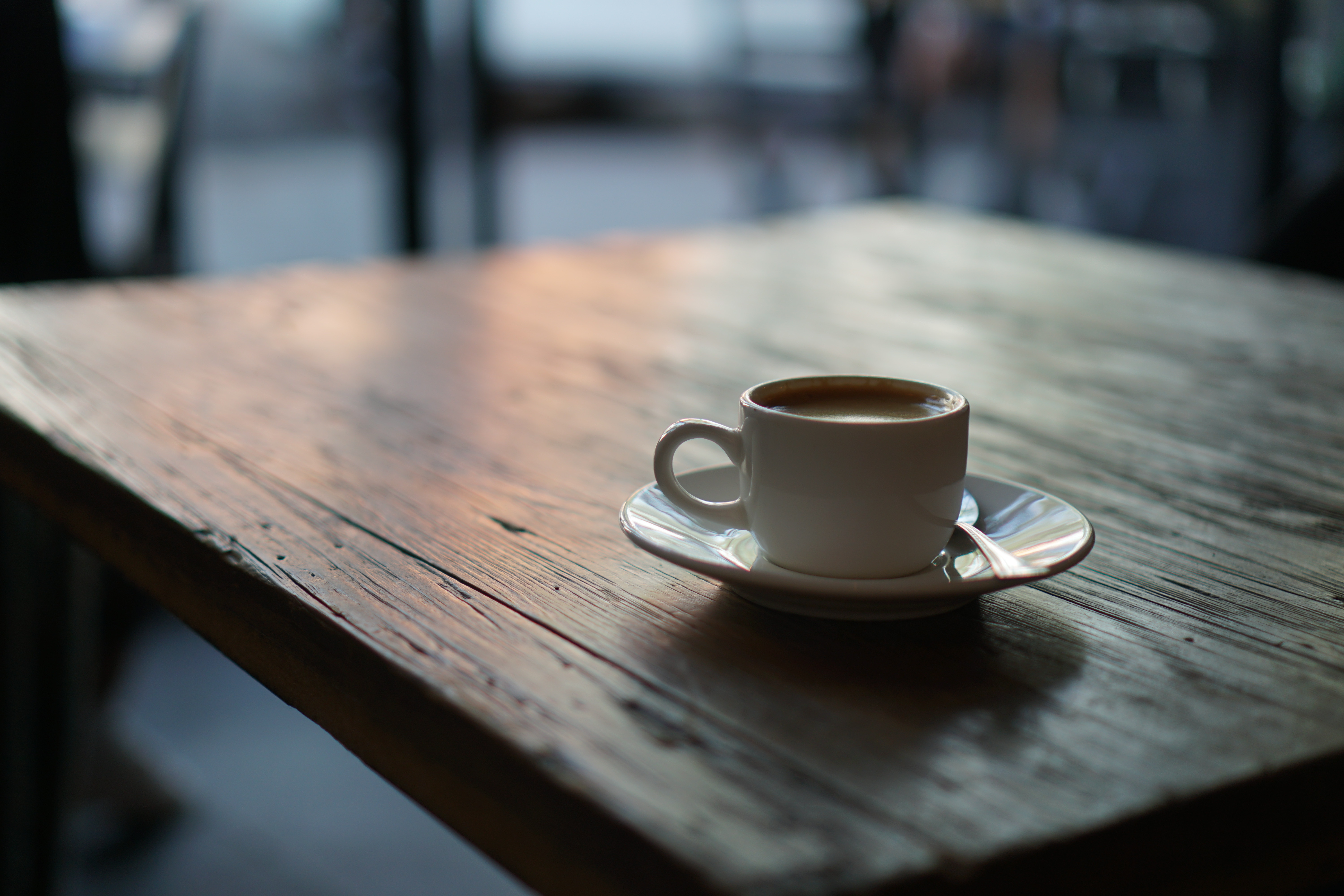 112489 download wallpaper Food, Cup, Coffee, Wood, Wooden, Surface screensavers and pictures for free