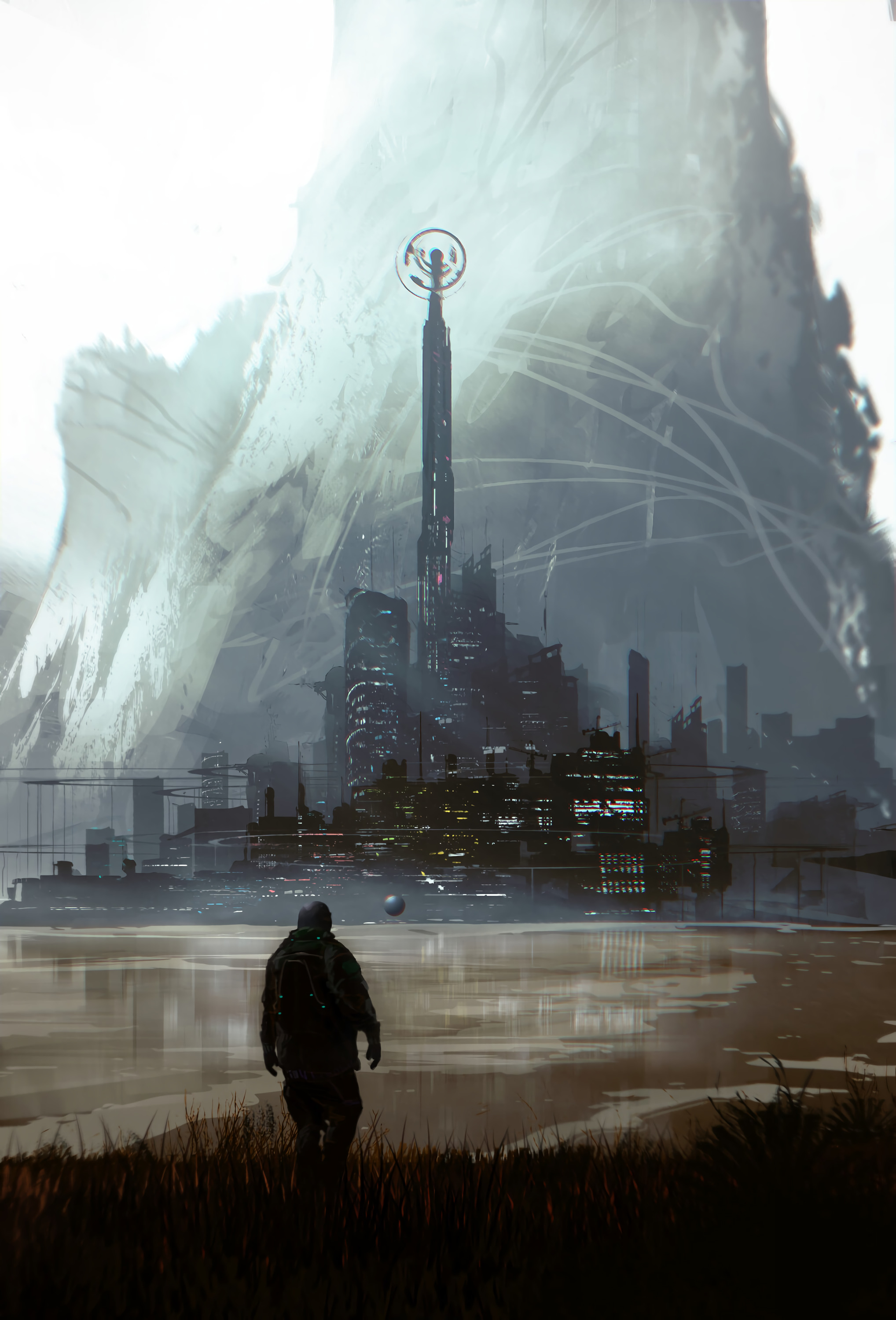 118897 Screensavers and Wallpapers Fiction for phone. Download Art, City, Human, Person, Fiction, That's Incredible pictures for free