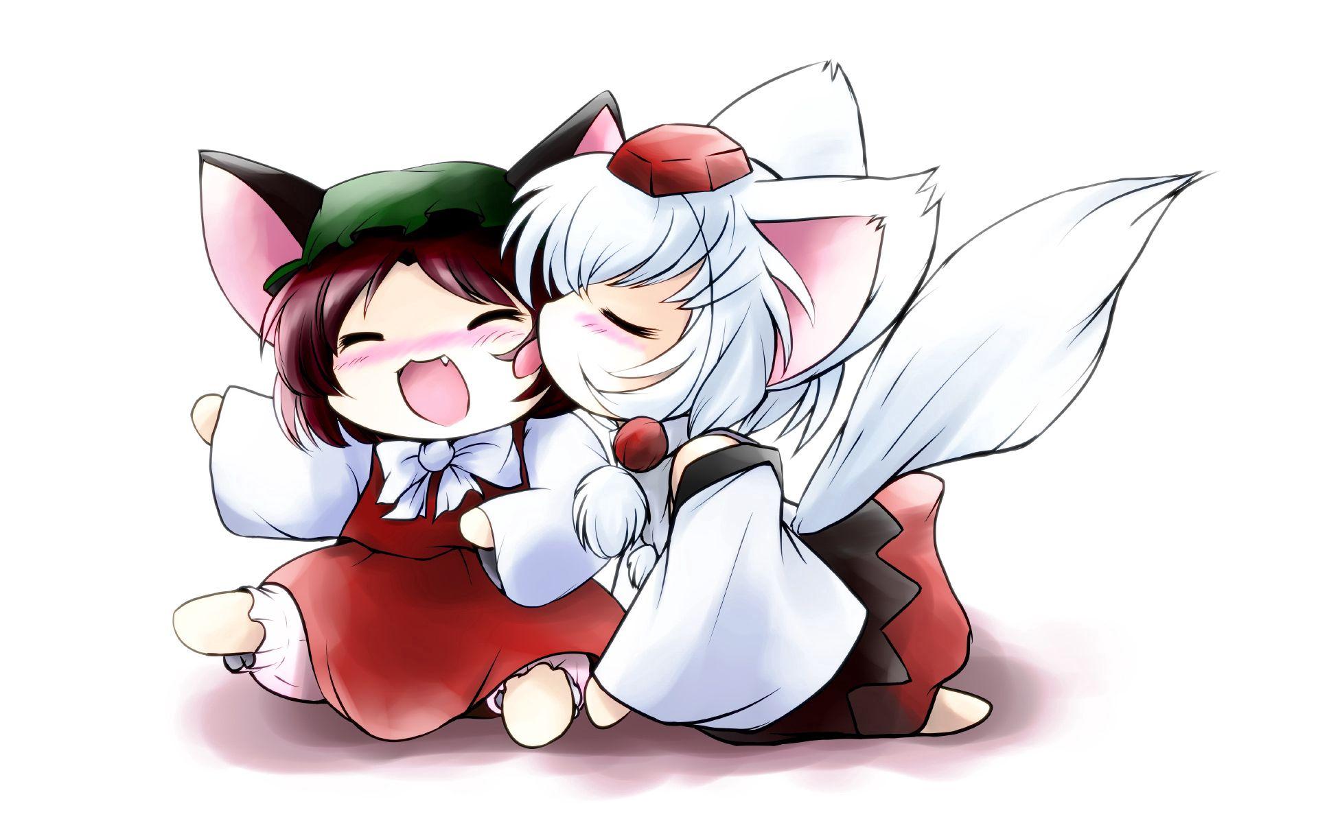 102581 baixar papel de parede Anime, Crianças, Garotada, Uma Raposa, Raposa, Cauda, Ouvidos - protetores de tela e imagens gratuitamente