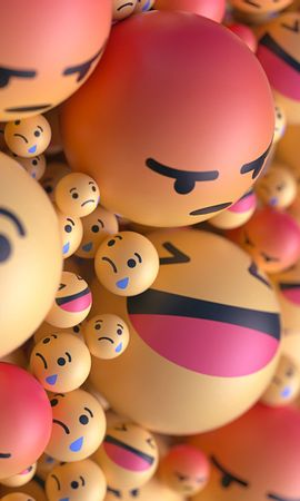 122710 Protetores de tela e papéis de parede 3D em seu telefone. Baixe Smilies, Sorrisos, Emoticons, Balões, Taw, 3D, Emoções fotos gratuitamente