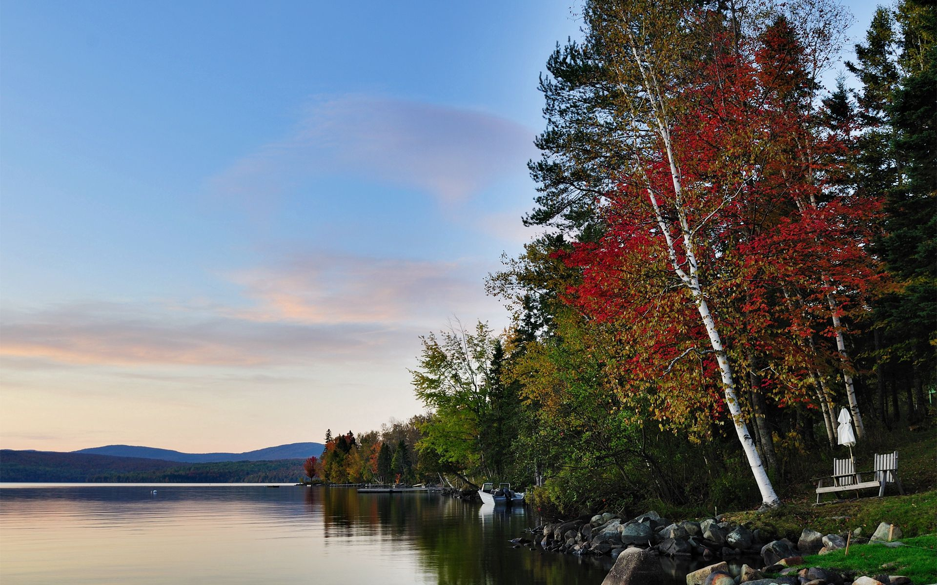 76837 Screensavers and Wallpapers Landscape for phone. Download Nature, Autumn, Lake, Forest, Stones, Landscape pictures for free