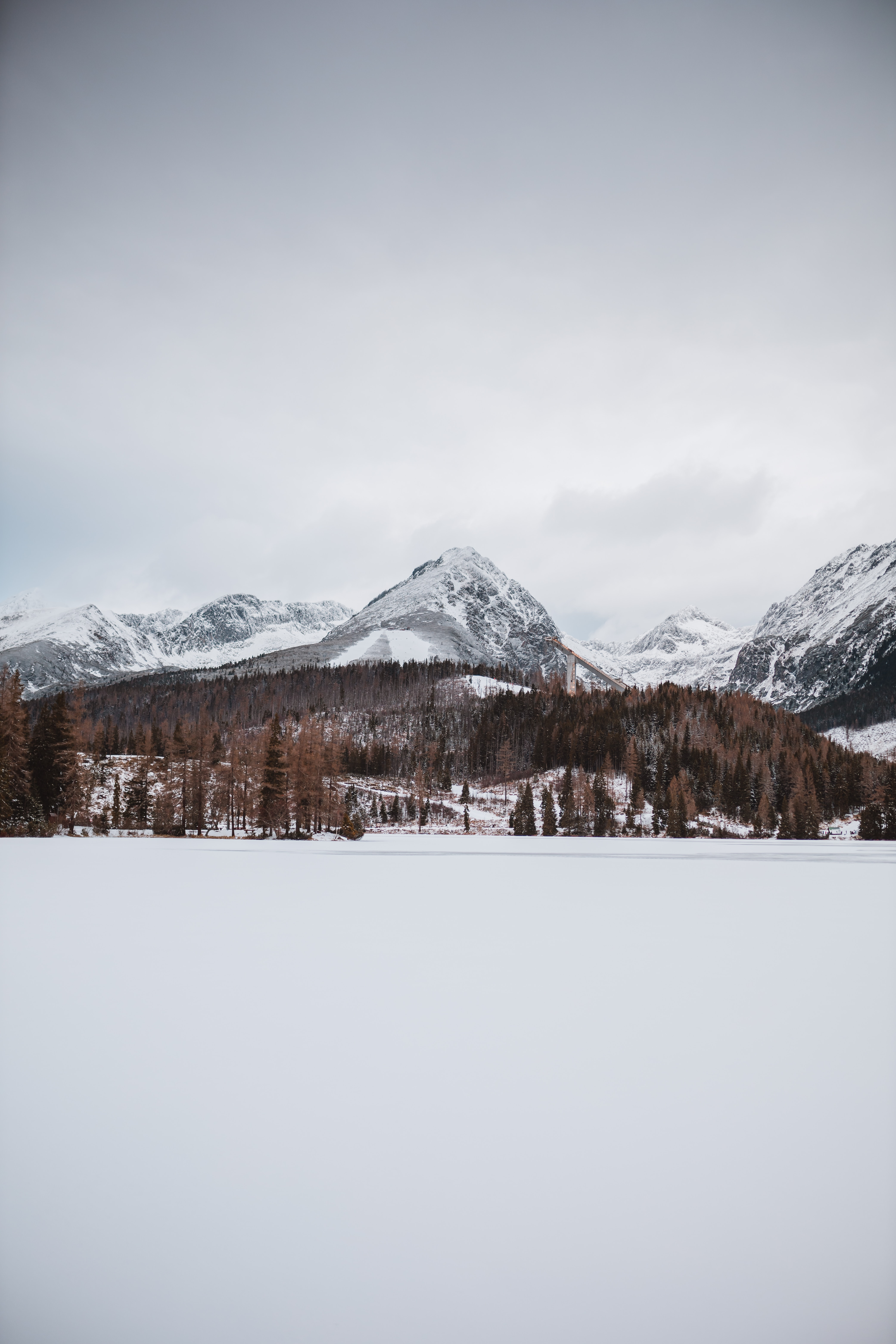 57129 download wallpaper Nature, Snow, Winter, Mountains, Landscape screensavers and pictures for free