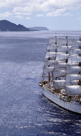 49324 download wallpaper Transport, Landscape, Nature, Ships, Sea screensavers and pictures for free
