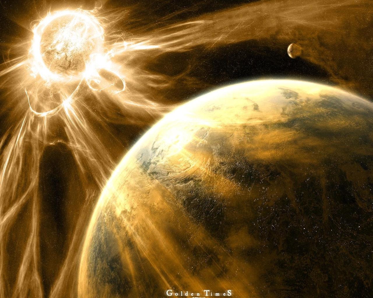 10096 скачать обои Пейзаж, Планеты, Космос, Солнце - заставки и картинки бесплатно