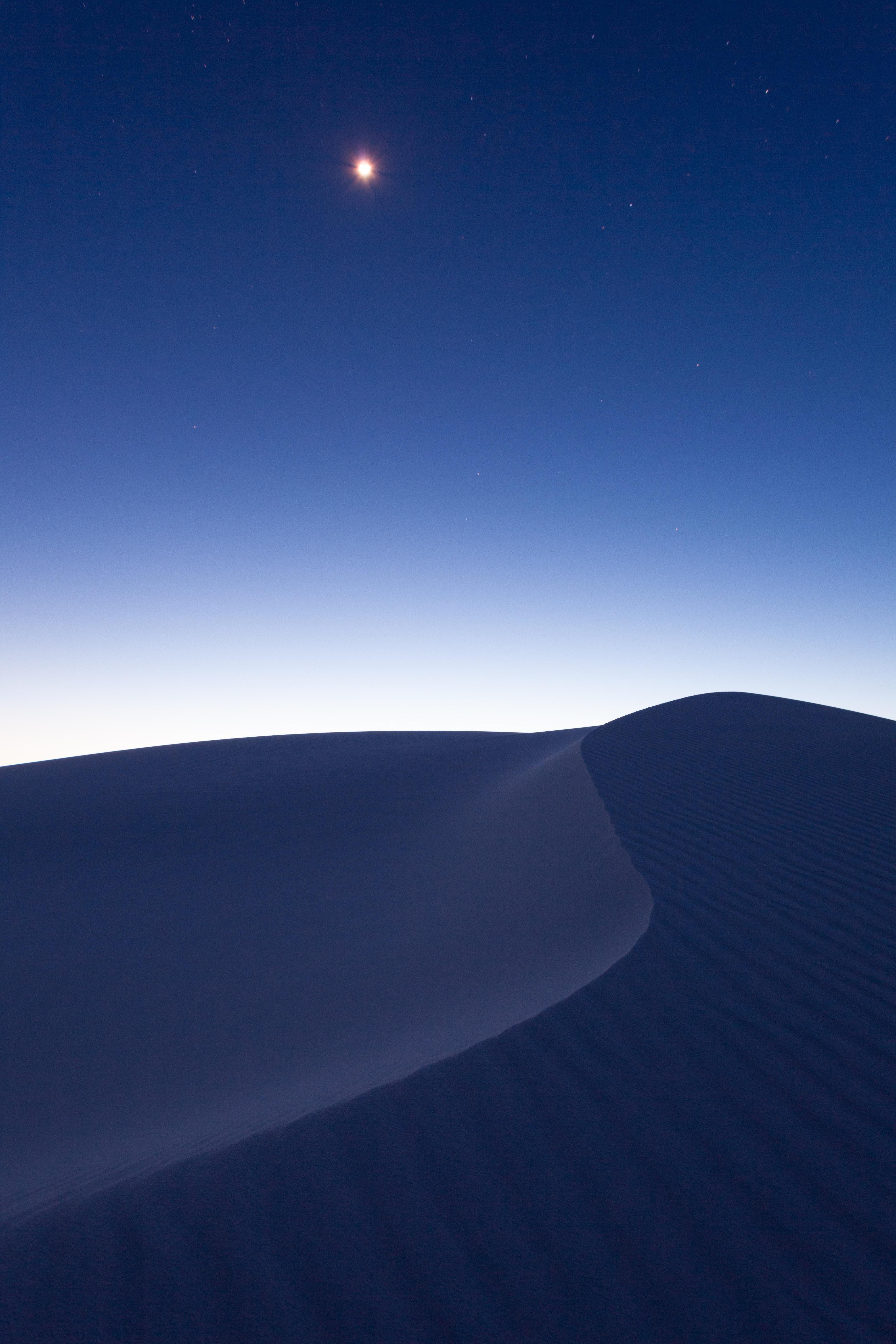 122890 Заставки и Обои Песок на телефон. Скачать Пустыня, Песок, Минимализм, Ночь картинки бесплатно