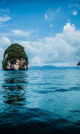 101542 descargar fondo de pantalla Naturaleza, Mar, Roca, Plantas, Tropical: protectores de pantalla e imágenes gratis