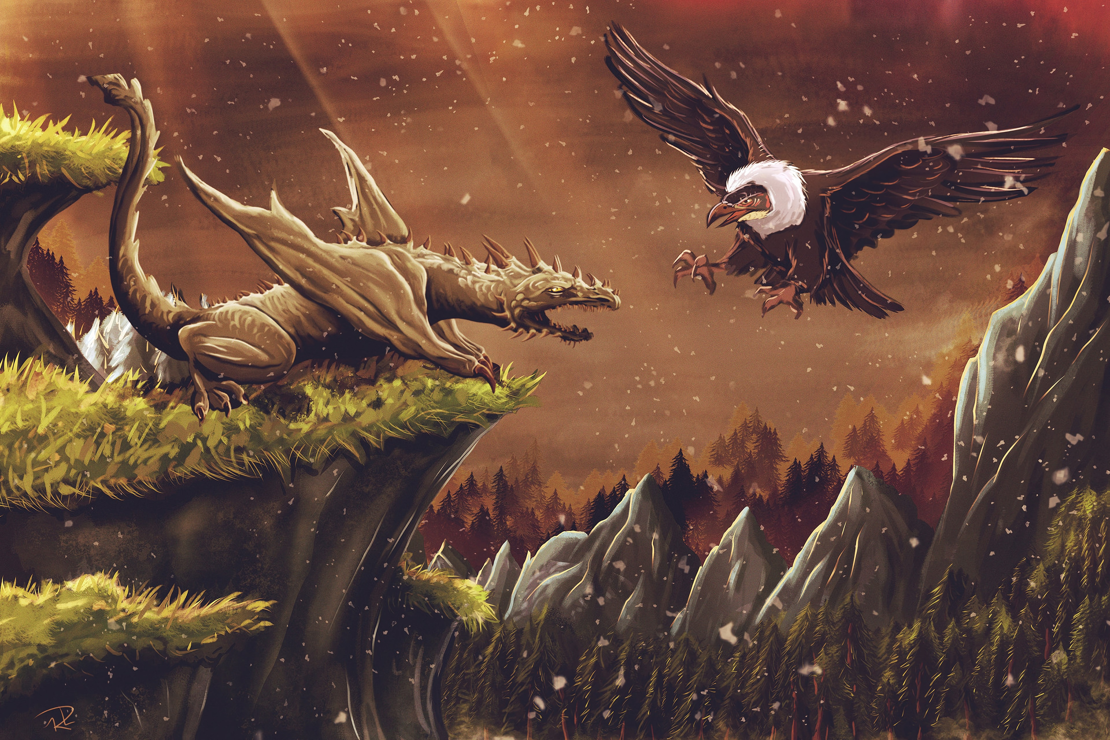 72725 Screensavers and Wallpapers Fiction for phone. Download Art, Bird, Vulture, Dragon, Fiction, That's Incredible pictures for free