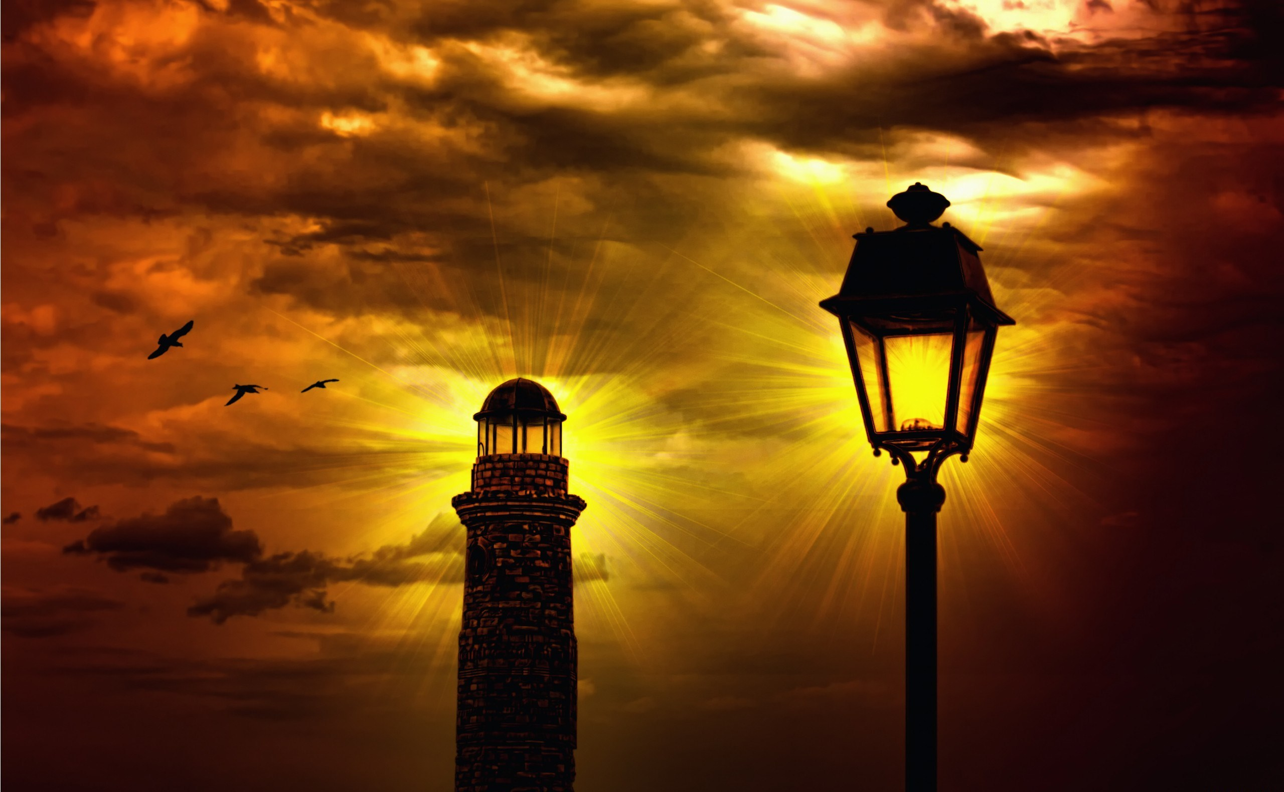 155622 Screensavers and Wallpapers Lamp for phone. Download Nature, Sky, Night, Lamp, Lantern, Lighthouse, Bad Weather pictures for free
