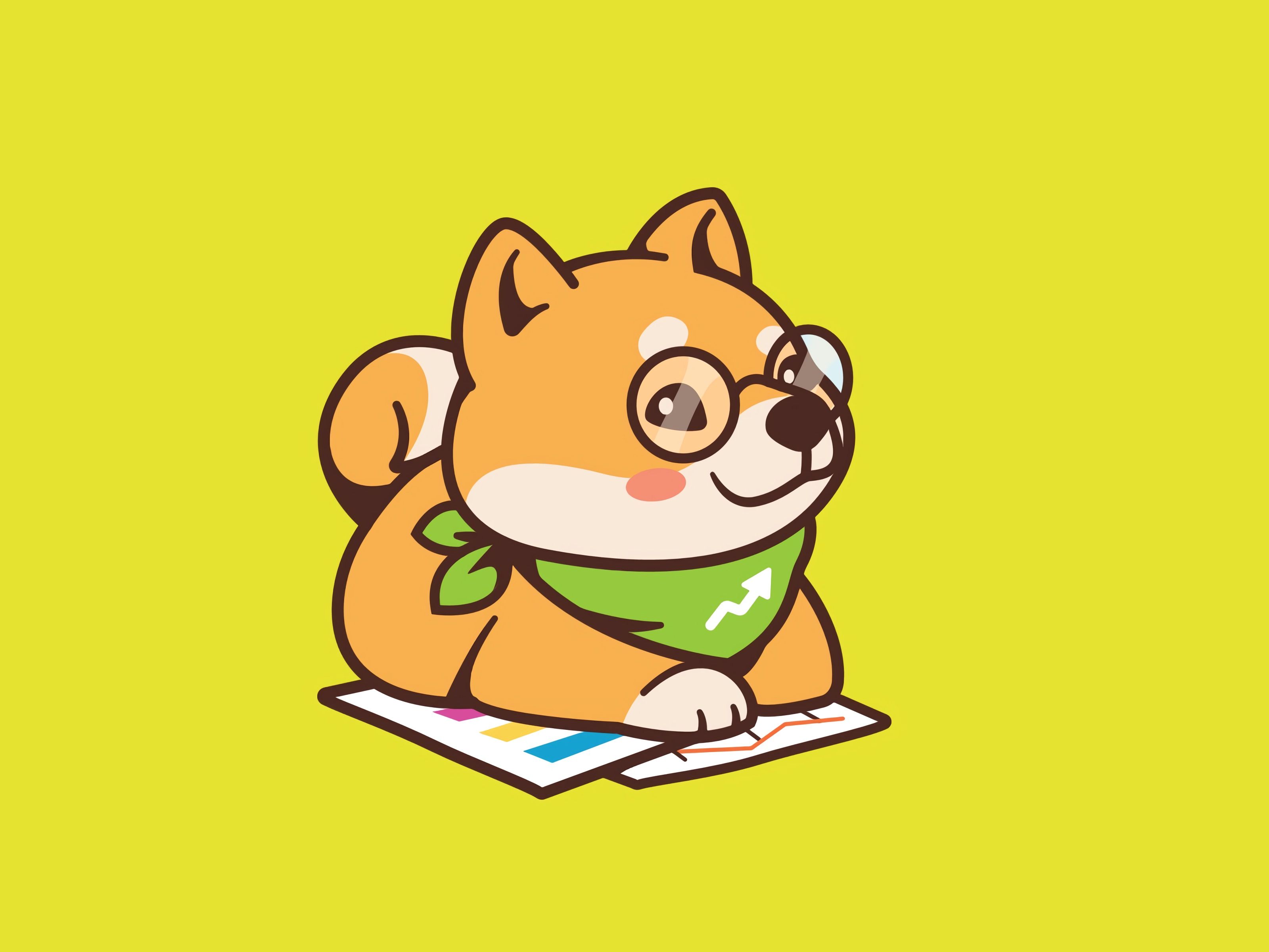157756 download wallpaper Vector, Dog, Glasses, Spectacles, Handkerchief, Kerchief, Nice, Sweetheart screensavers and pictures for free