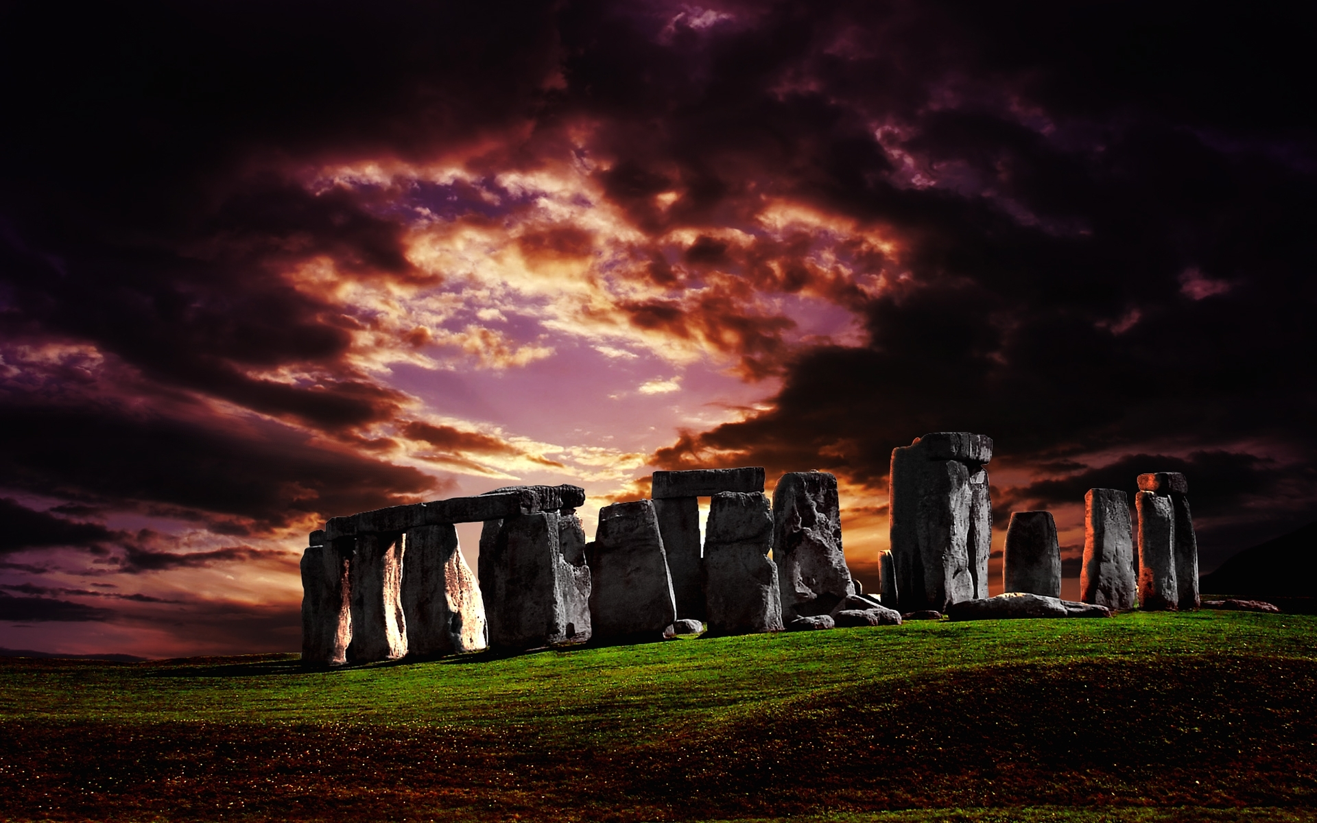 3860 download wallpaper Sky, Architecture, Stonehenge screensavers and pictures for free