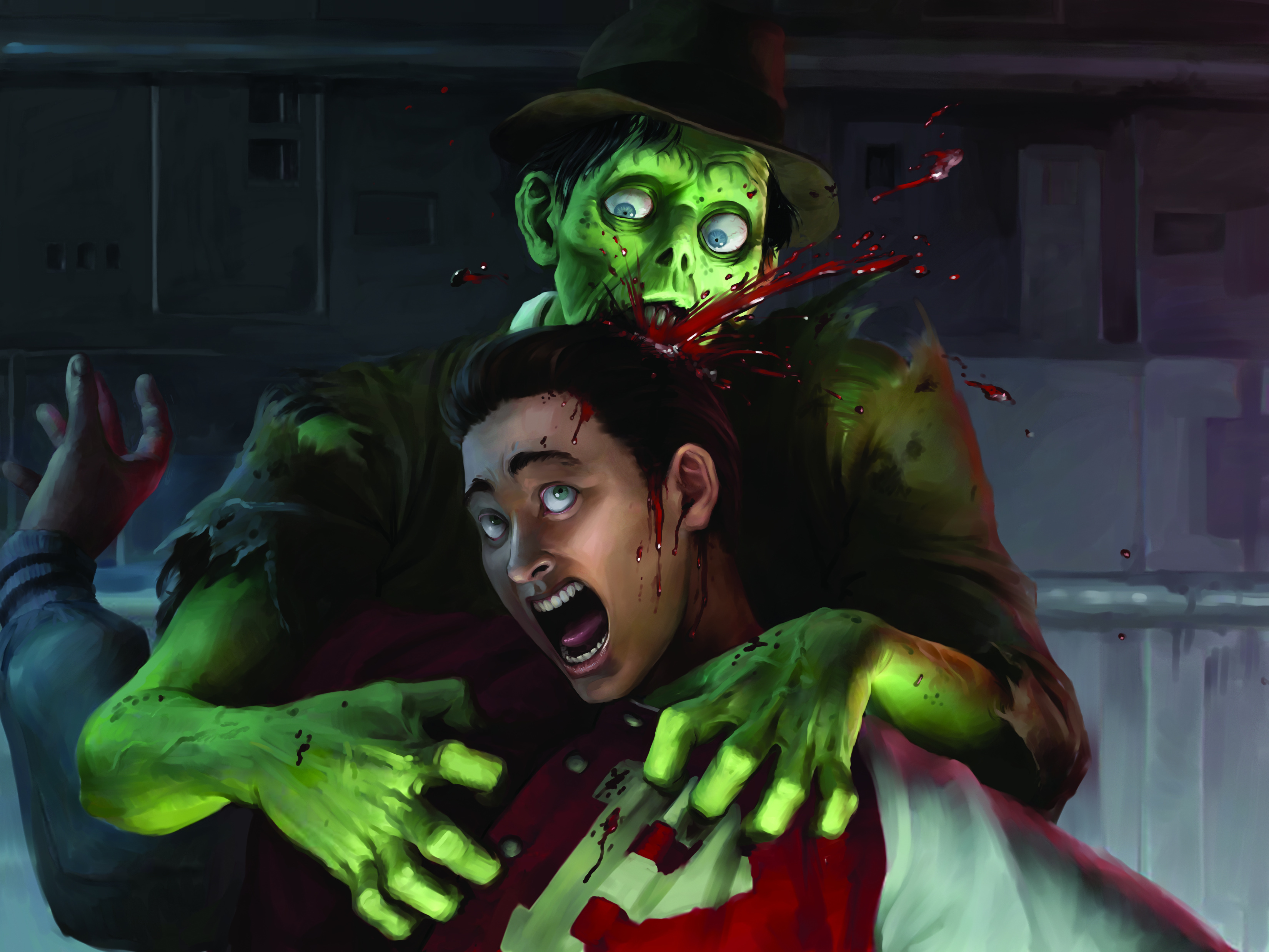 15907 download wallpaper Cartoon, Pictures, Zombies screensavers and pictures for free