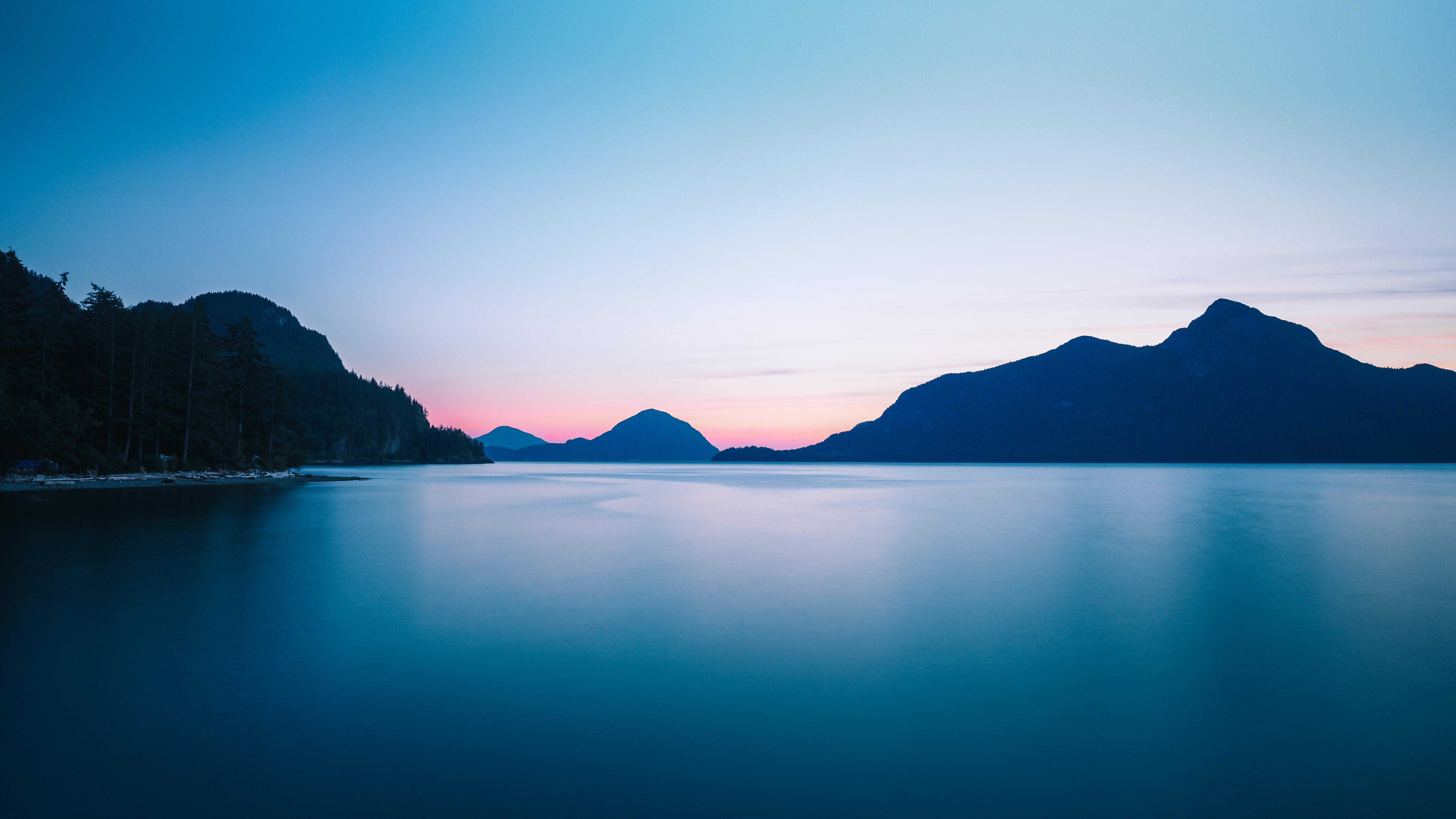 89803 скачать обои Природа, Море, Закат, Холмы, Горизонт, Небо - заставки и картинки бесплатно
