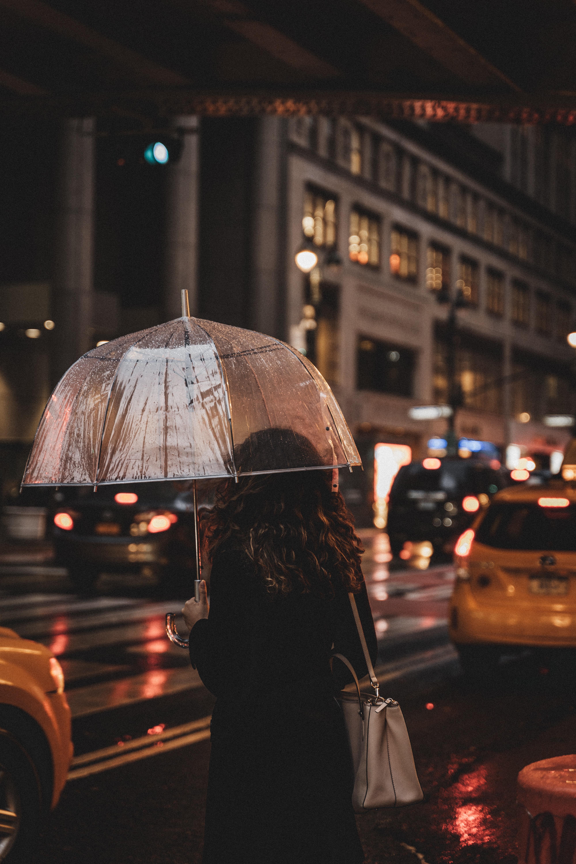 121660壁紙のダウンロードその他, 雑, 女の子, 傘, 雨, 通り, ナイト-スクリーンセーバーと写真を無料で