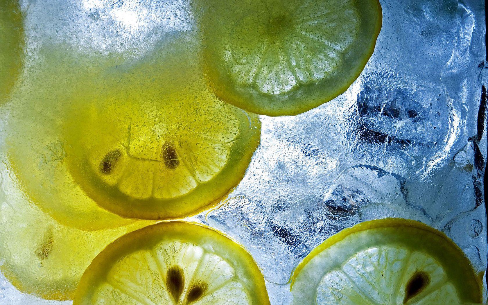 144135 Заставки и Обои Лед на телефон. Скачать Лед, Макро, Лимон, Цитрус, Кусочки картинки бесплатно