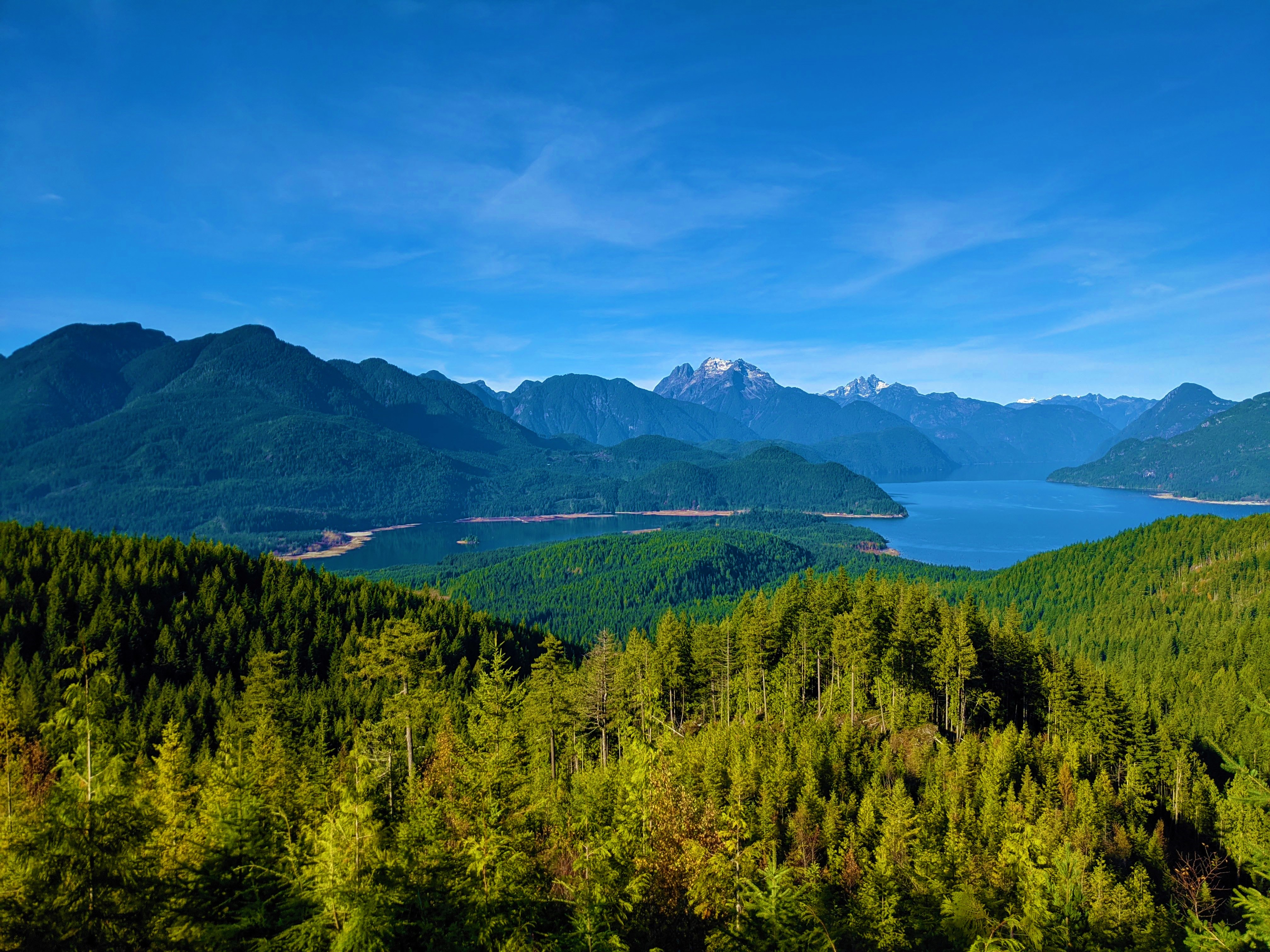 144707 download wallpaper Nature, Forest, Rivers, View From Above, Mountains, Landscape screensavers and pictures for free