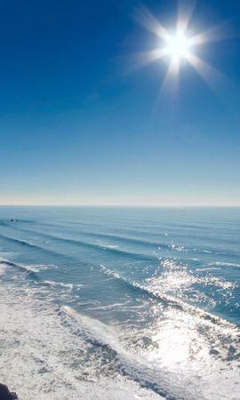 21927 descargar fondo de pantalla Paisaje, Mar, Sol, Ondas: protectores de pantalla e imágenes gratis