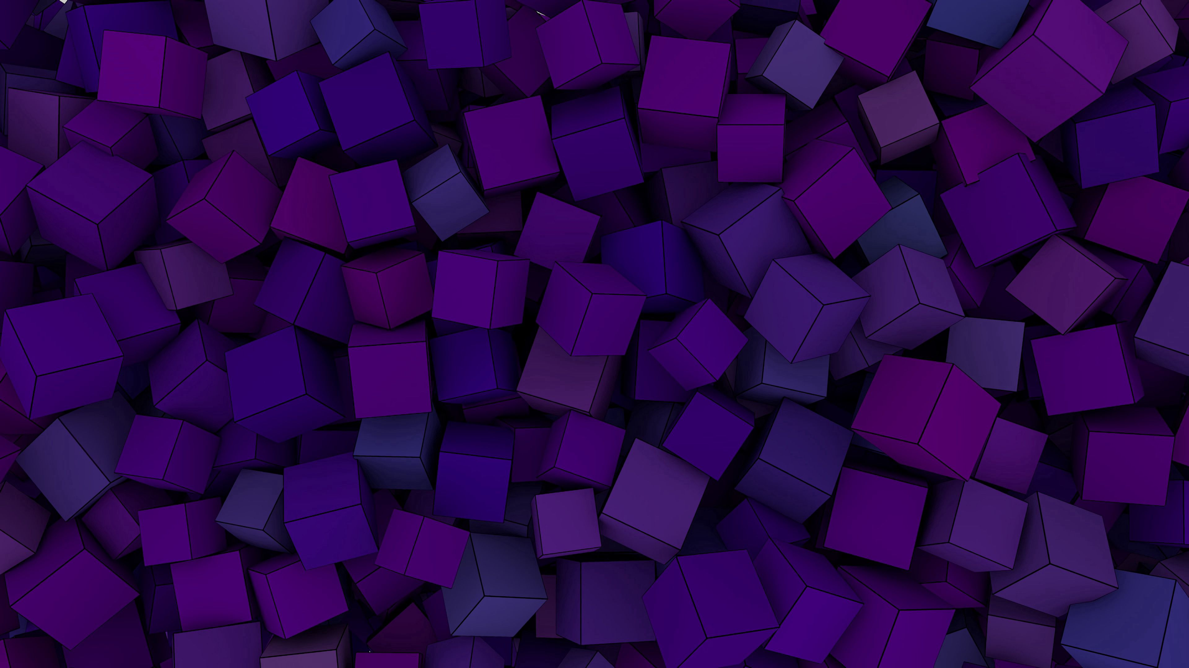 141781 Screensavers and Wallpapers Purple for phone. Download Violet, 3D, Form, Forms, Purple, Volume, Cuba pictures for free