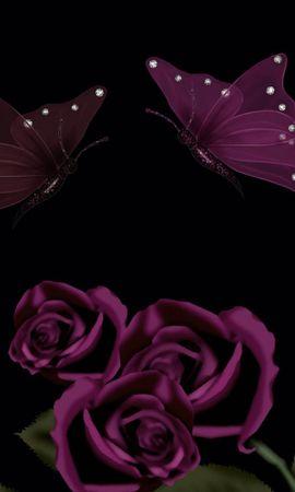 17729 descargar fondo de pantalla Mariposas, Flores, Fondo: protectores de pantalla e imágenes gratis