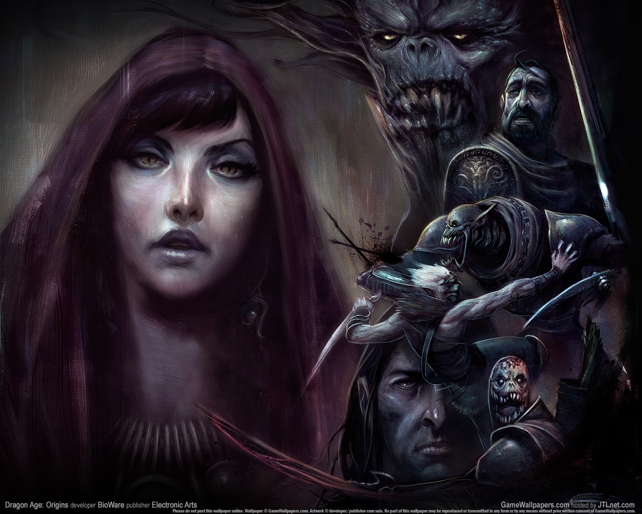 460 Screensavers and Wallpapers Demons for phone. Download Fantasy, Art, Dragon Age: Origins, Demons pictures for free