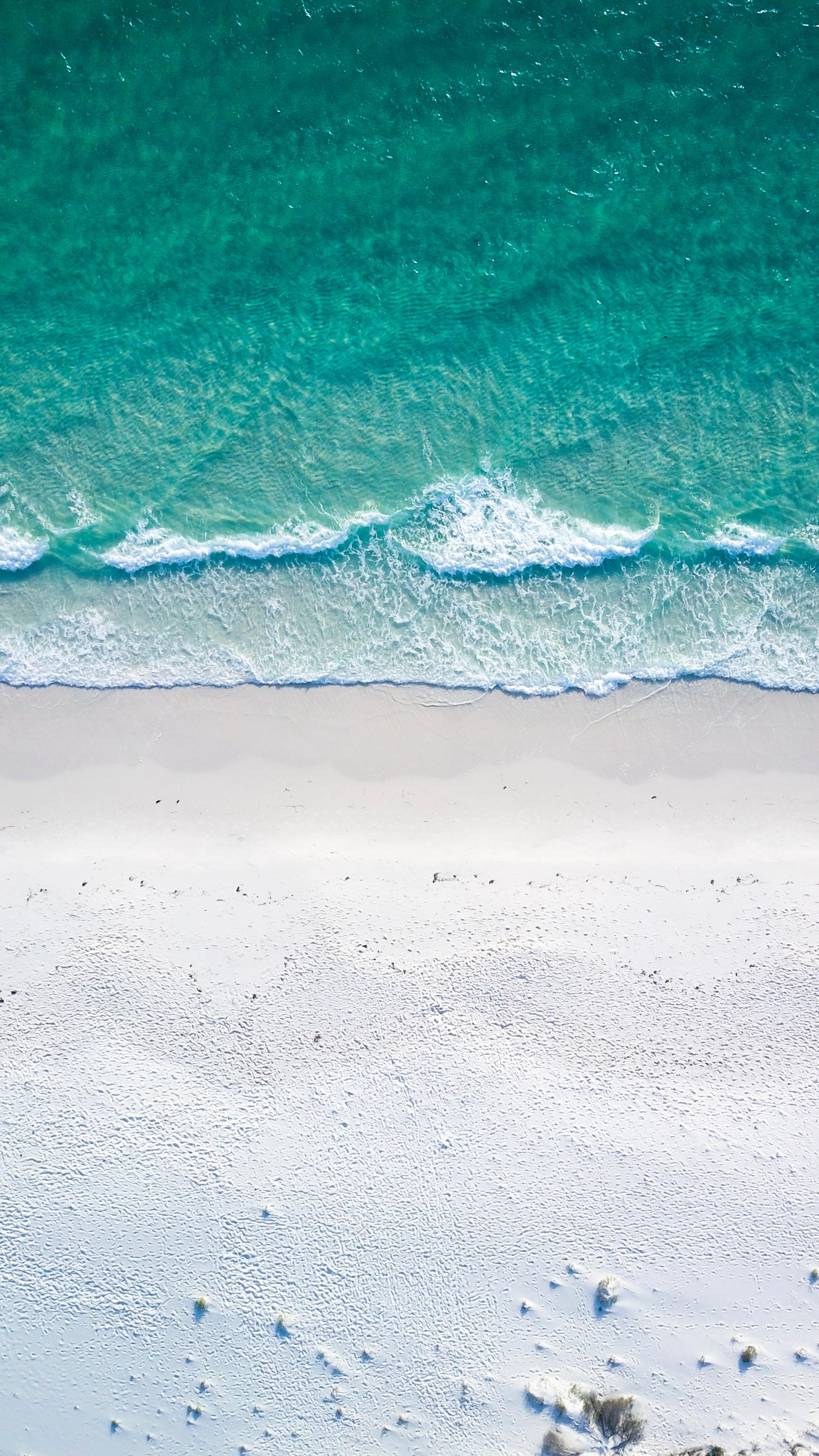 107546 Protetores de tela e papéis de parede Praia em seu telefone. Baixe Natureza, Surf, Praia, Areia, Vista De Cima, Ver De Cima, Costa, Oceano, Espuma, Surfar fotos gratuitamente