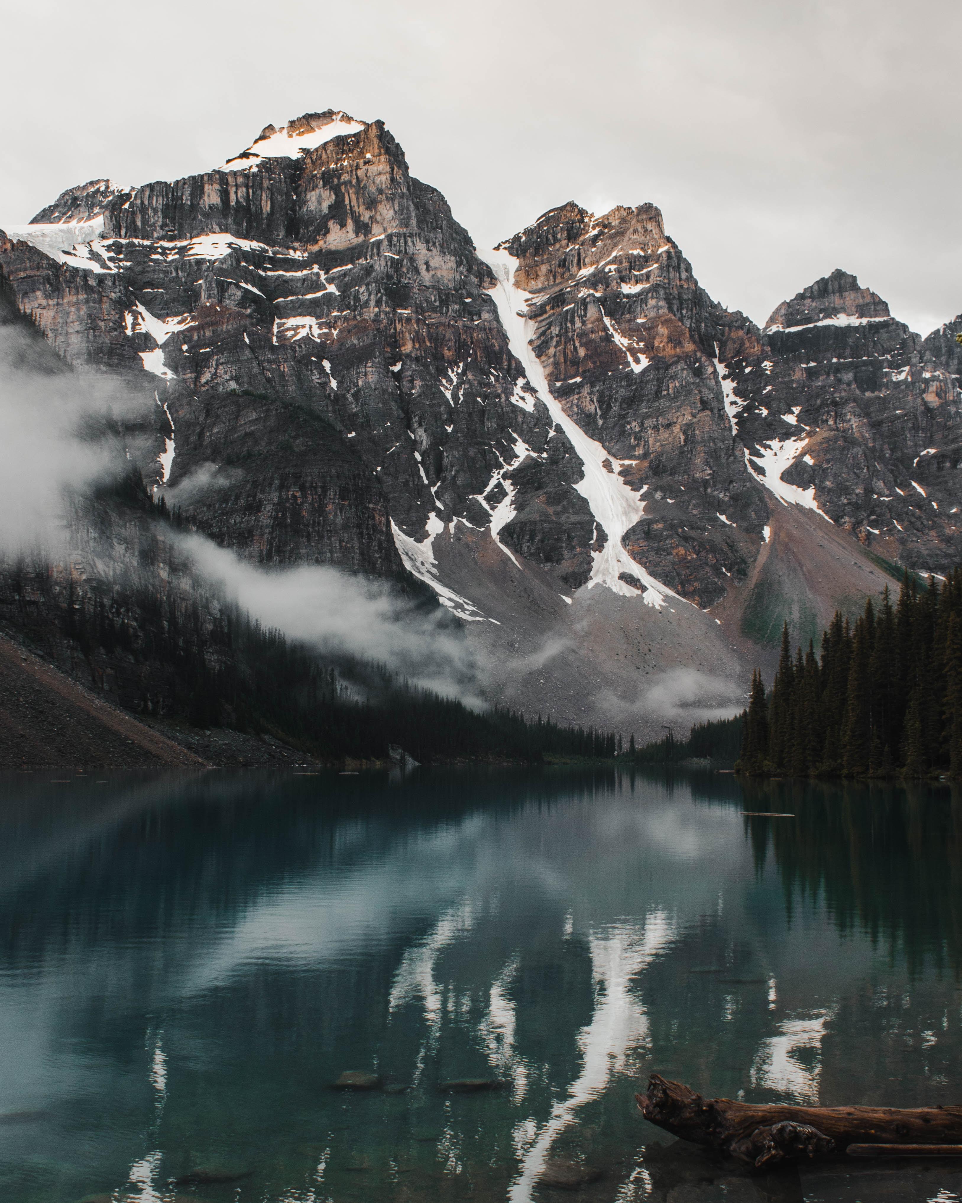148570 Salvapantallas y fondos de pantalla Paisaje en tu teléfono. Descarga imágenes de Naturaleza, Lago, Árboles, Orilla, Banco, Montañas, Paisaje gratis