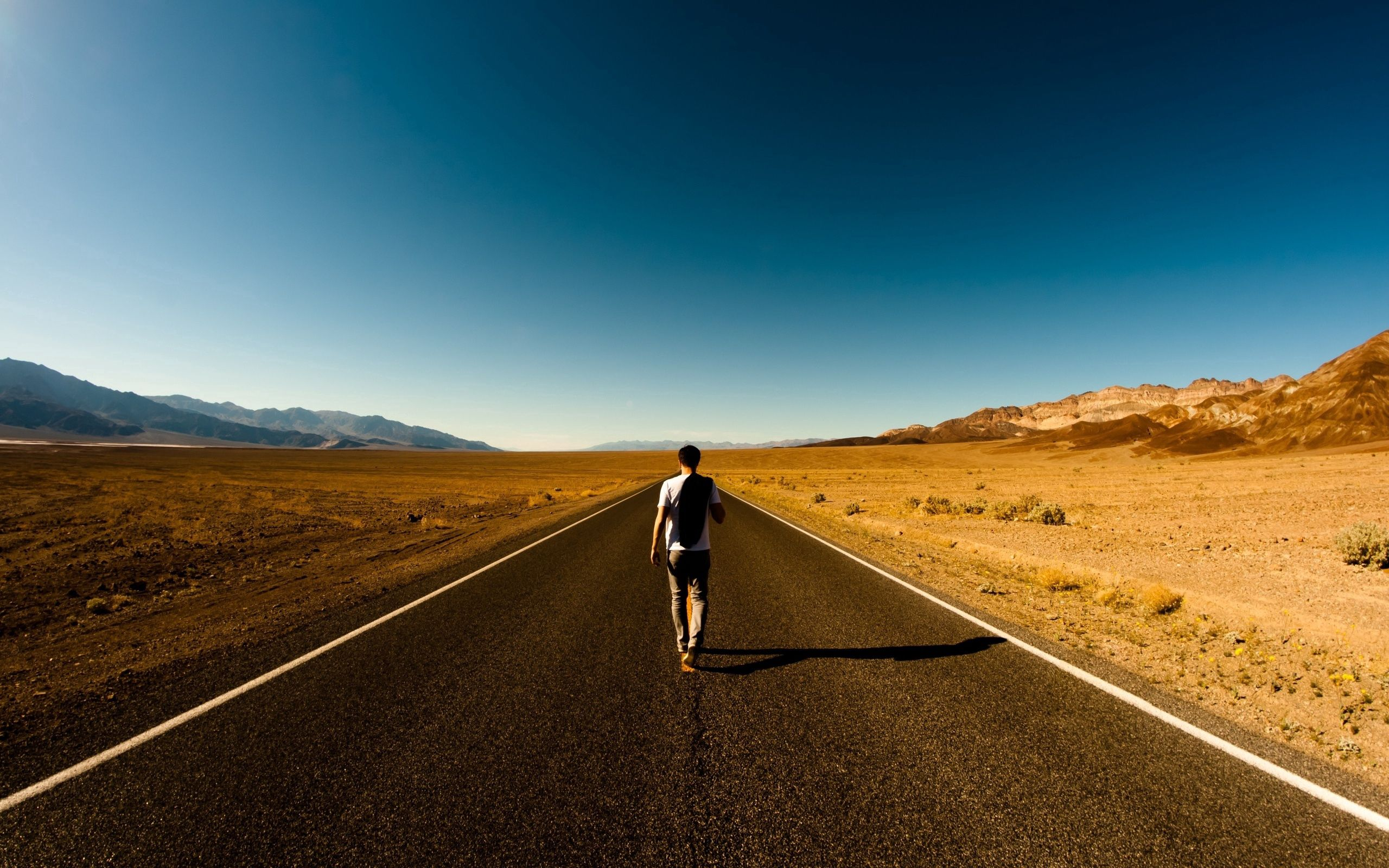 129285 Screensavers and Wallpapers Guy for phone. Download Nature, Road, Path, Loneliness, Guy, Emptiness, Void, Way, Back pictures for free