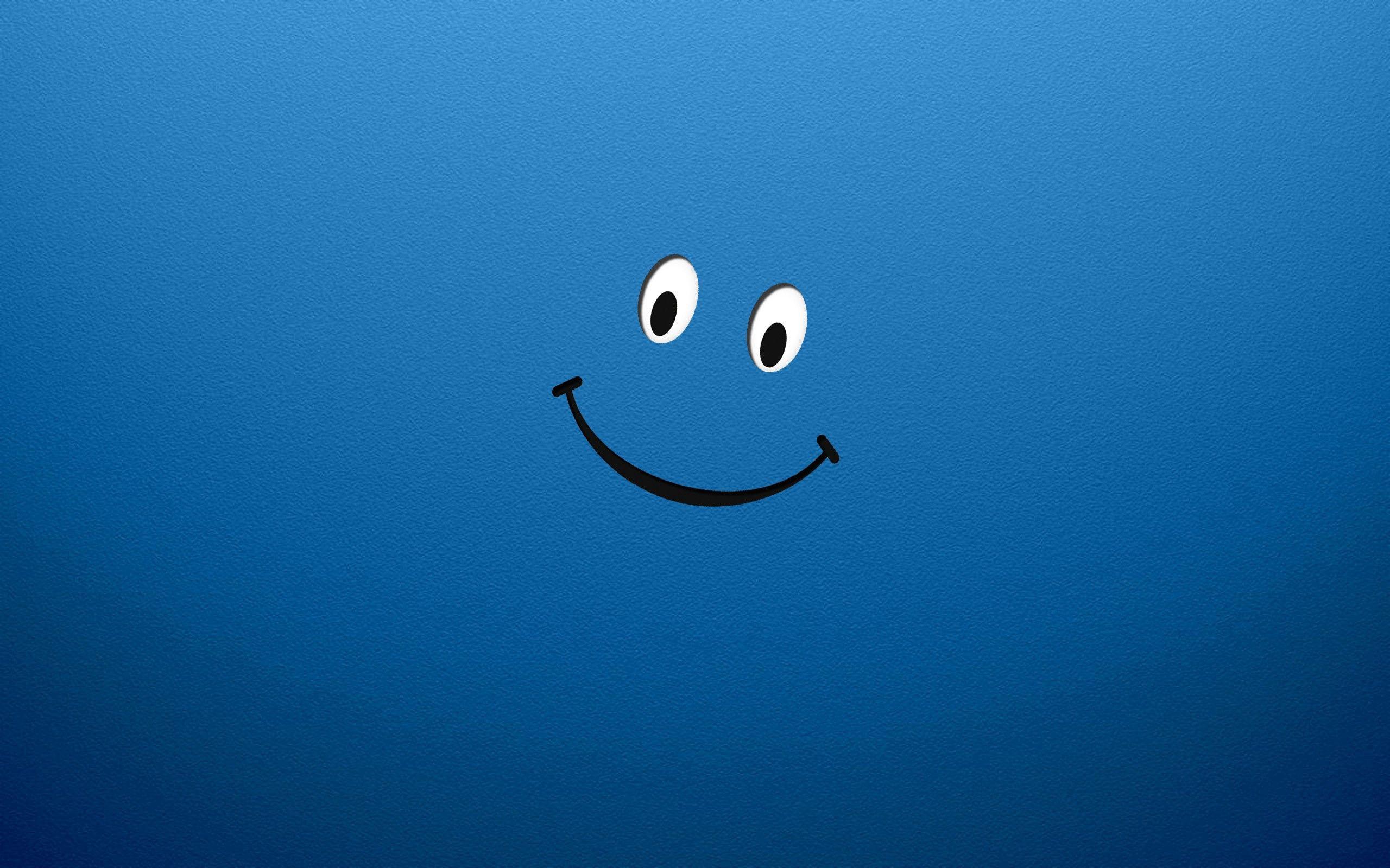58394 завантажити шпалери Вектор, Синій, Малюнок, Креслення, Смайл, Посміхатися - заставки і картинки безкоштовно