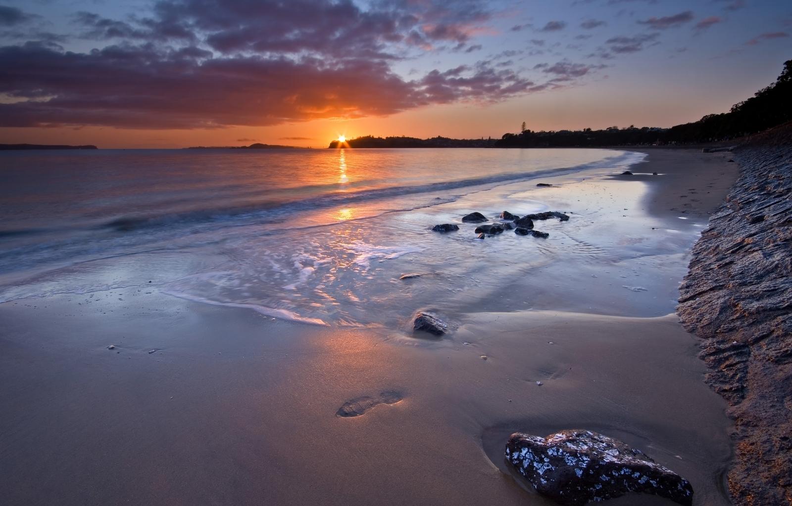 5317 скачать обои Пейзаж, Закат, Солнце, Пляж - заставки и картинки бесплатно