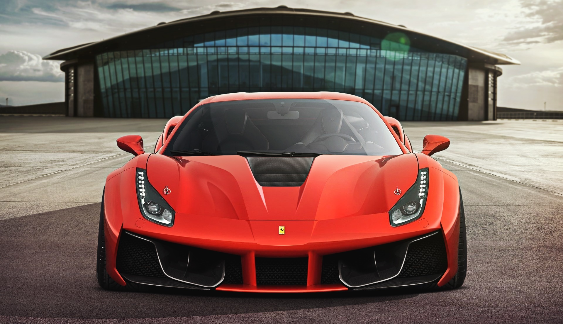 151597 Screensavers and Wallpapers Ferrari for phone. Download Ferrari, Cars, Front View, 2015, 488, Gtb pictures for free