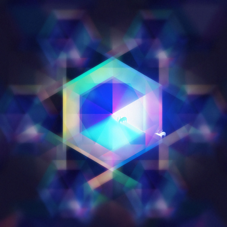 107191 download wallpaper Hexagon, Geometric, Deer, Art screensavers and pictures for free