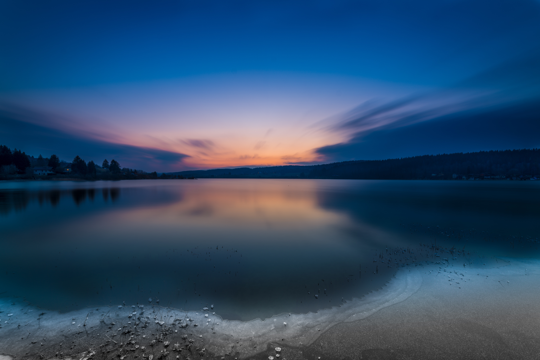 115200 Заставки и Обои Озеро на телефон. Скачать Озеро, Природа, Закат, Горизонт картинки бесплатно