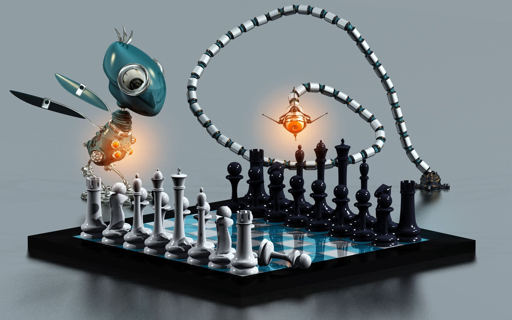 115136 Screensavers and Wallpapers Robots for phone. Download 3D, Board, Consignment, Party, Game, Chess, Animals, Robots pictures for free