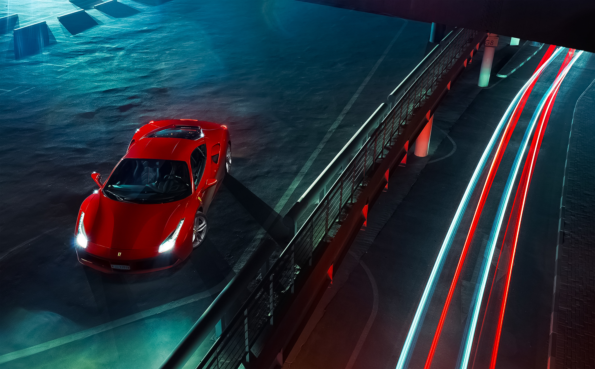 106138 Screensavers and Wallpapers Ferrari for phone. Download Ferrari, Cars, View From Above, 488, Gtb pictures for free