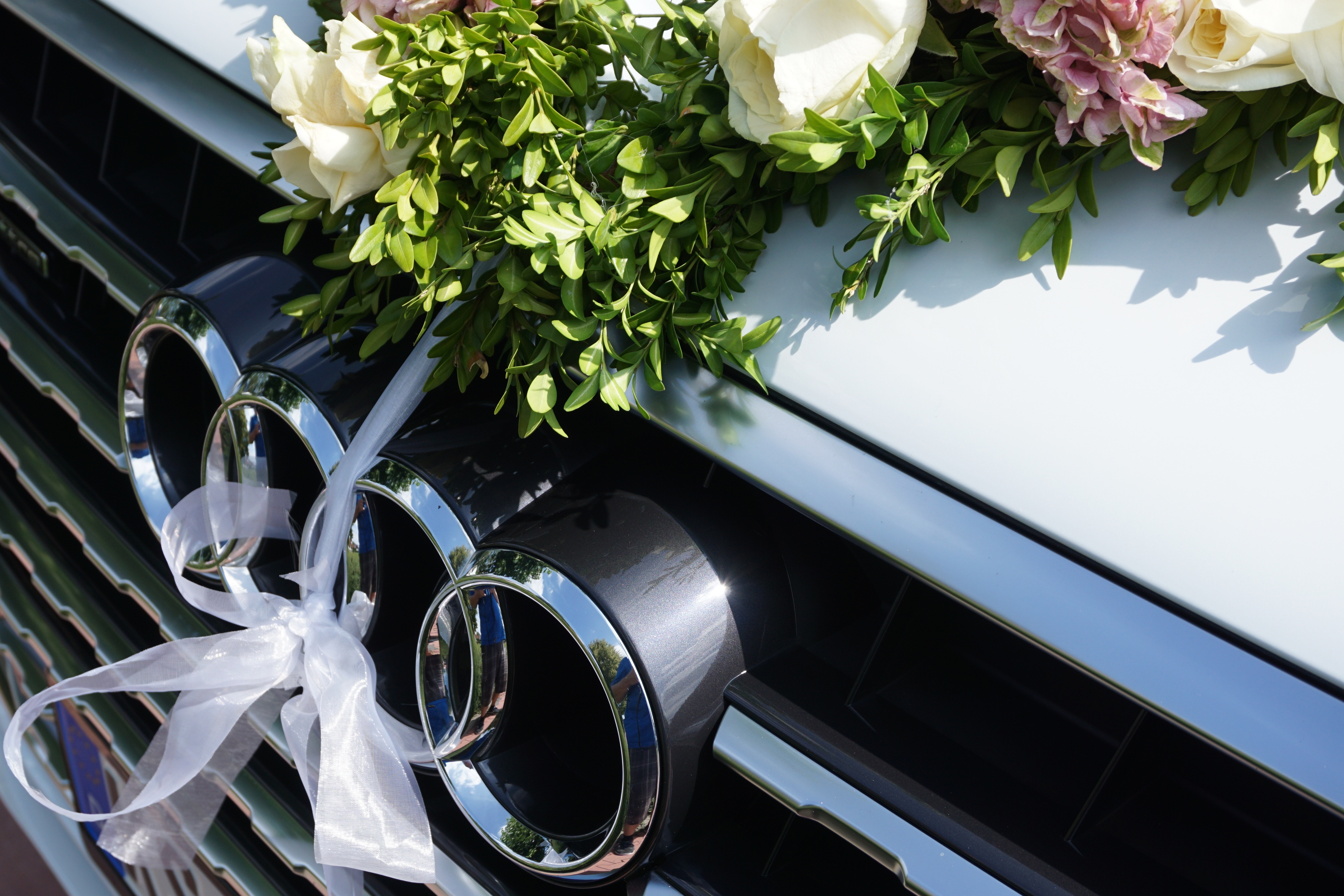 126502 download wallpaper Audi, Flowers, Cars, Suv, Logo, Logotype, Q7 screensavers and pictures for free