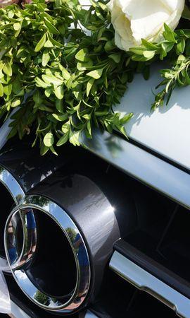 126502 télécharger le fond d'écran Voitures, Audi, Q7, 7E Trimestre, Vus, Logo, Logotype, Fleurs - économiseurs d'écran et images gratuitement