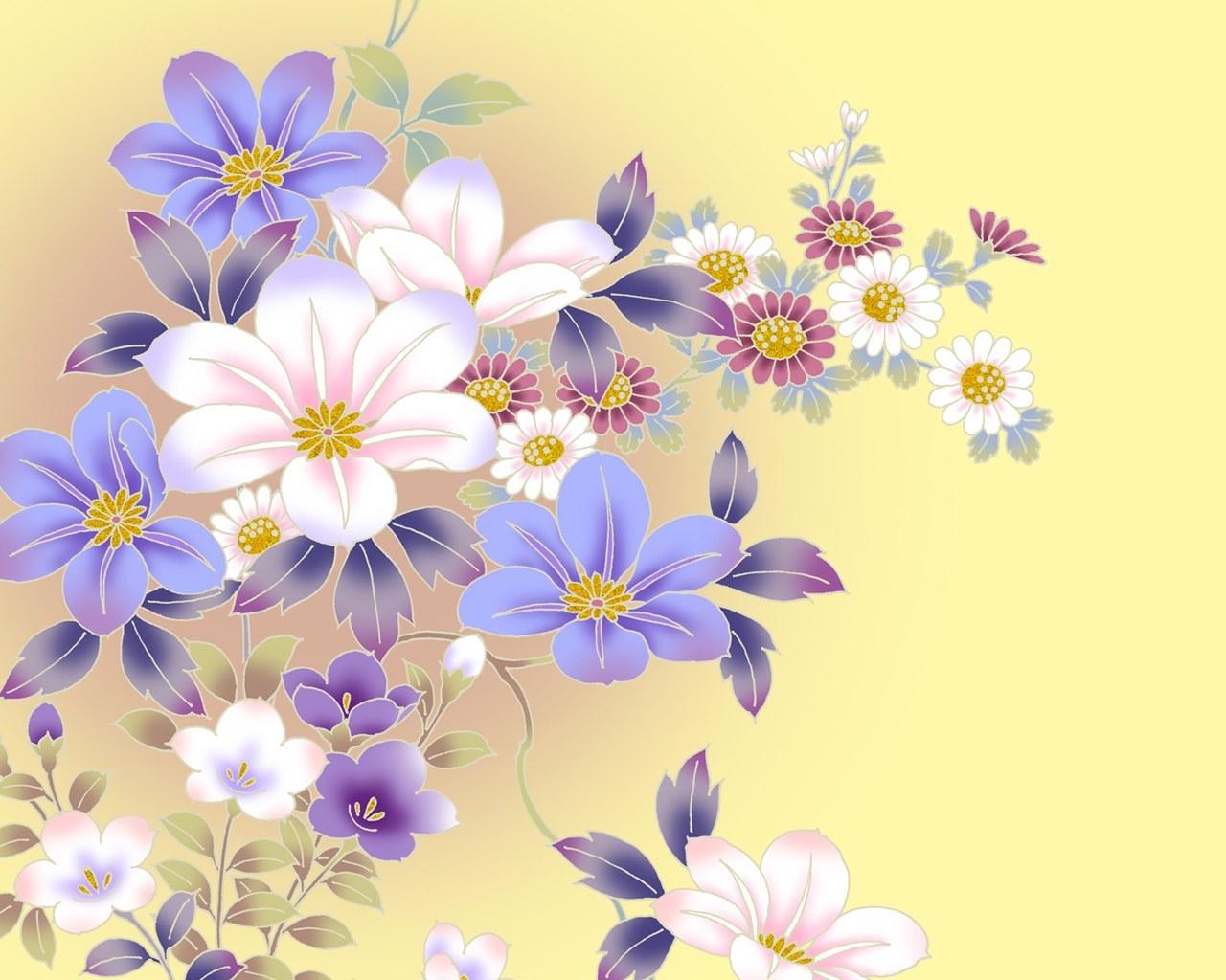 8570 скачать обои Растения, Рисунки, Цветы - заставки и картинки бесплатно