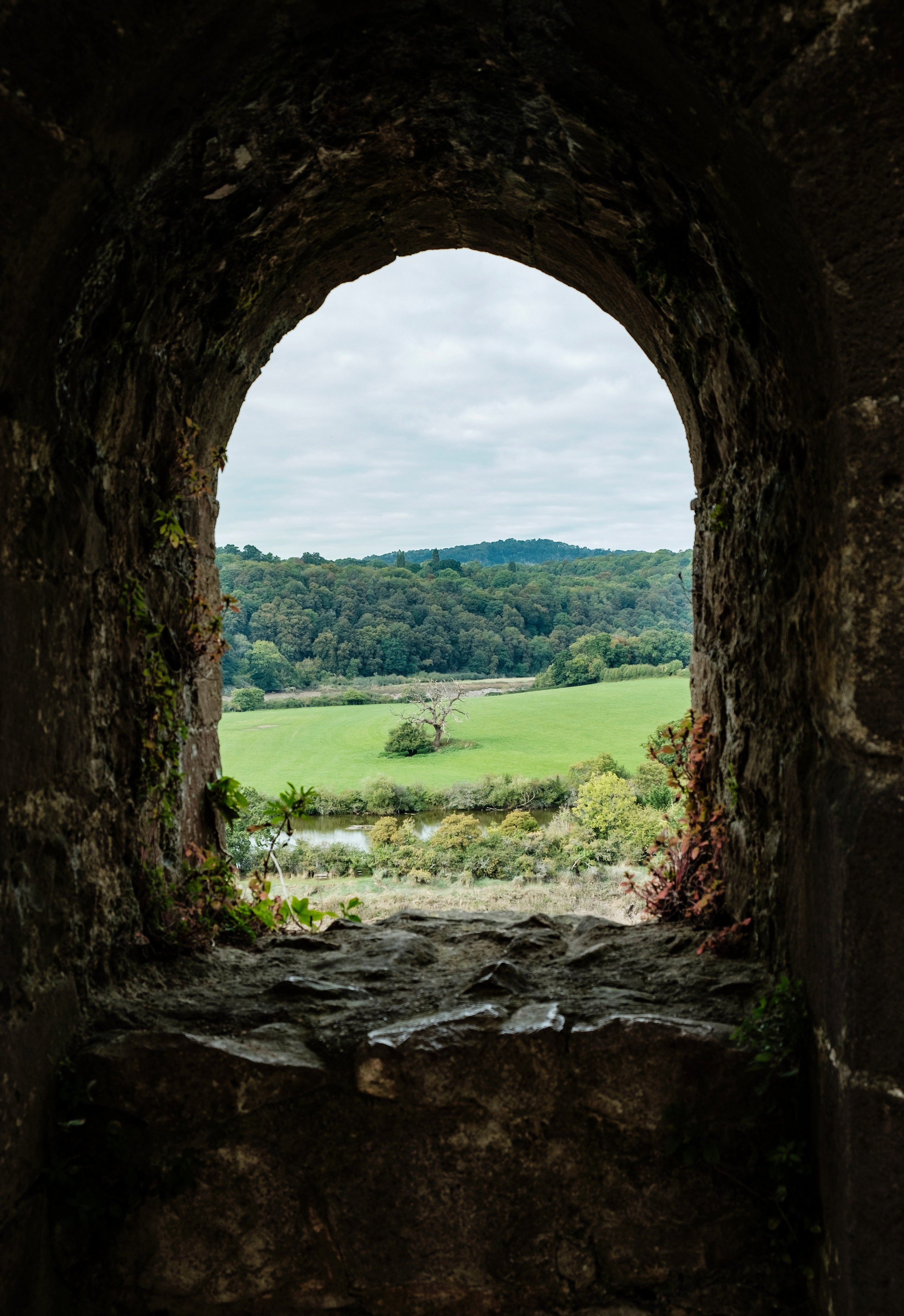 89531 download wallpaper Nature, Window, View, Wall, Stone, Landscape screensavers and pictures for free