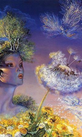 135088 скачать обои Фэнтези, Богиня, Дыхание, Цветок, Жизнь, Ангелы - заставки и картинки бесплатно
