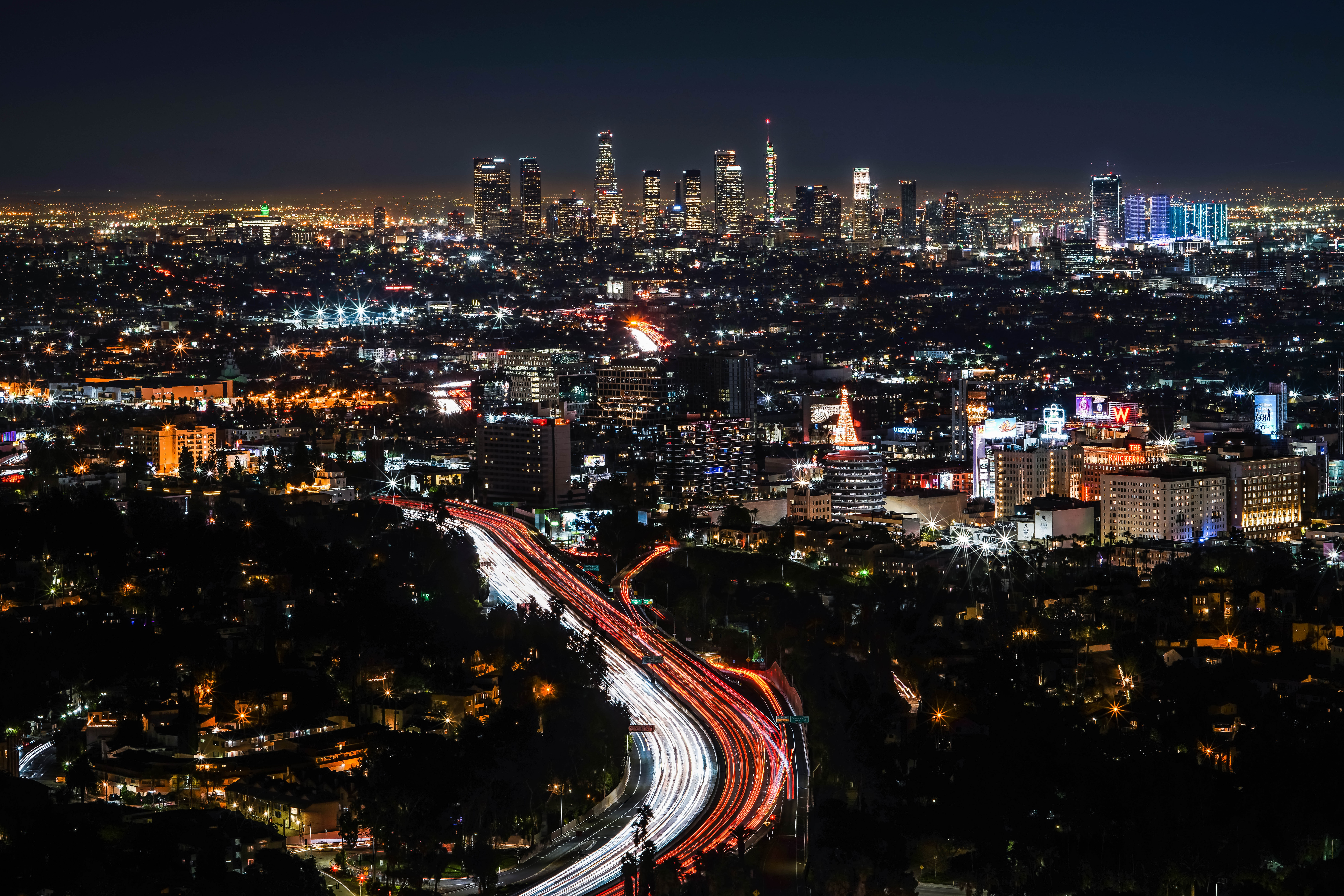 140736 Screensavers and Wallpapers Architecture for phone. Download Night City, Building, View From Above, Megapolis, Megalopolis, Dark, Architecture, Cities pictures for free