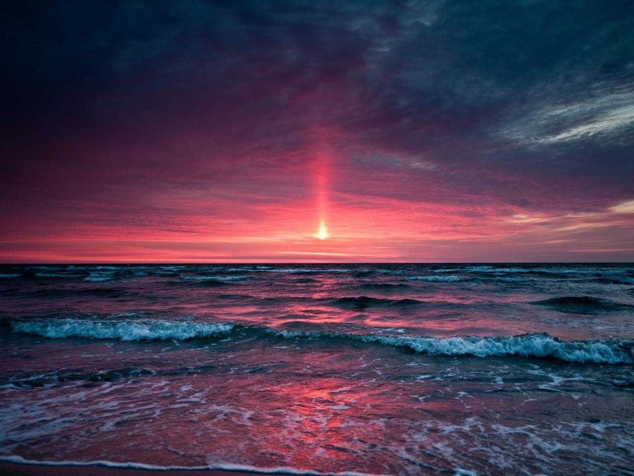 23319 скачать обои Пейзаж, Закат, Море, Волны - заставки и картинки бесплатно