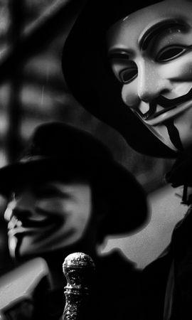 22070 télécharger le fond d'écran Cinéma, Masques, V Pour Vendetta - économiseurs d'écran et images gratuitement