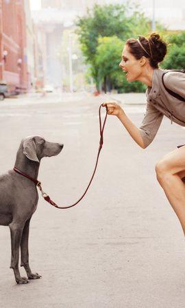 47305 baixar papel de parede Animais, Pessoas, Cães, Meninas - protetores de tela e imagens gratuitamente