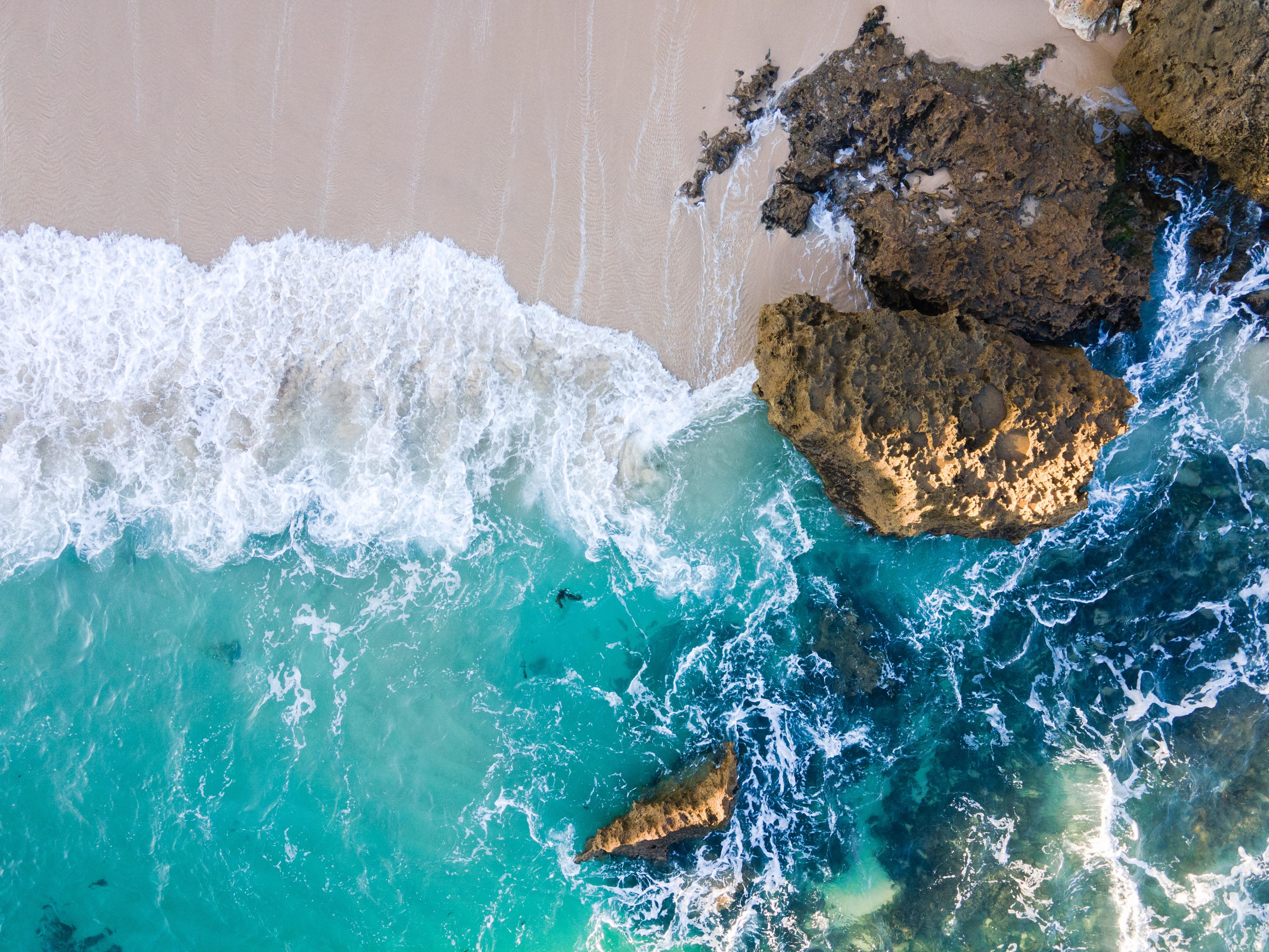 129116 descargar fondo de pantalla Naturaleza, Mar, Playa, Arena, Vista Desde Arriba: protectores de pantalla e imágenes gratis