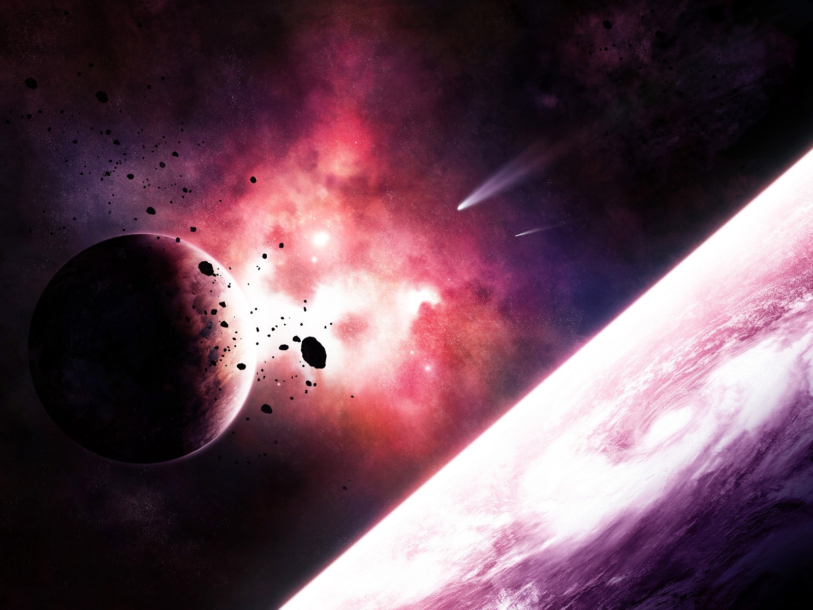 570 download wallpaper Landscape, Art, Planets, Universe screensavers and pictures for free