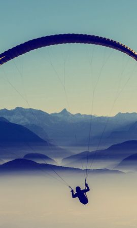 59330 Screensavers and Wallpapers Sports for phone. Download Sports, Paragliding, Paraglider, Sky, Flight pictures for free