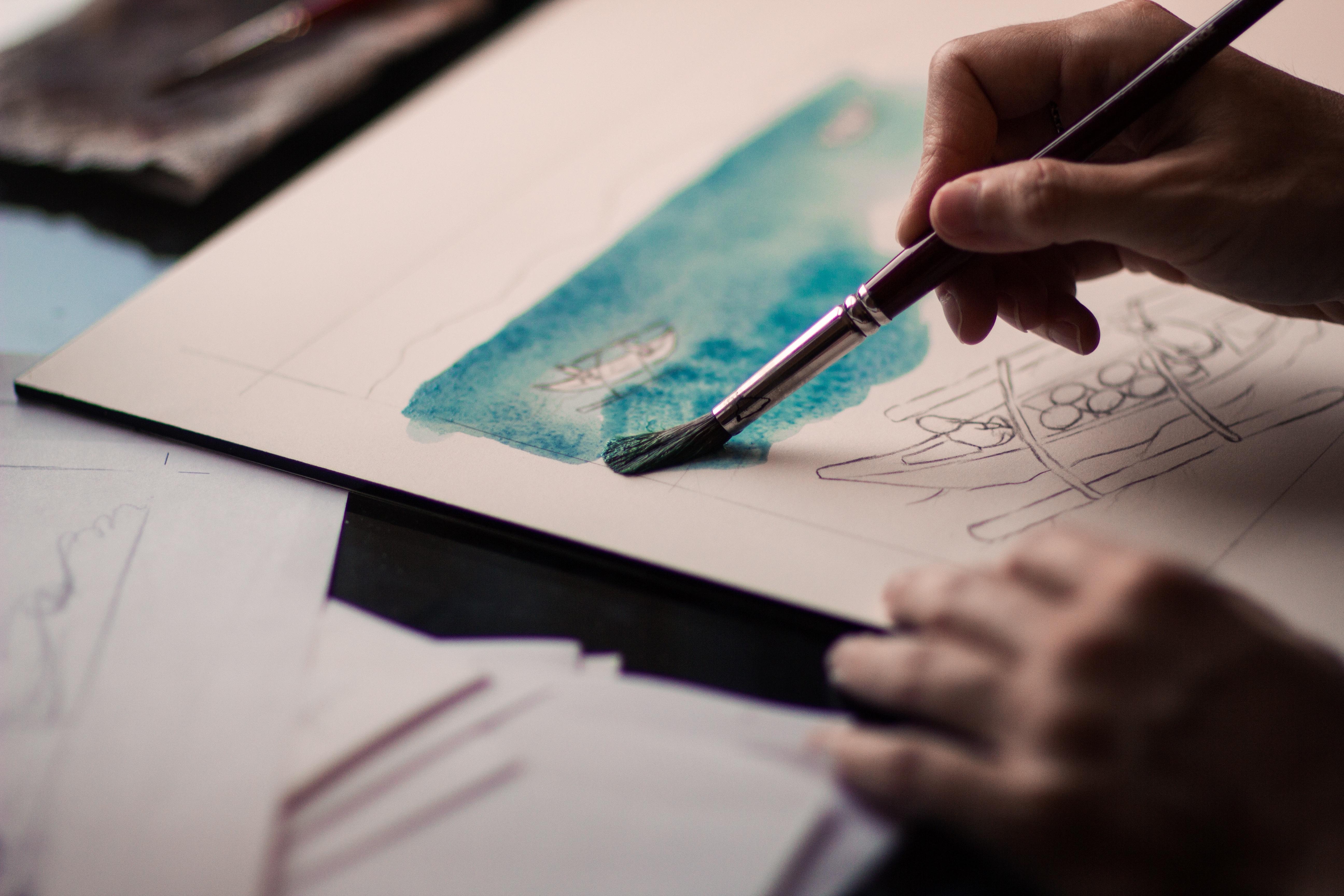 107785 Hintergrundbild herunterladen Kunst, Künstler, Verschiedenes, Sonstige, Farben, Bürste, Bürsten - Bildschirmschoner und Bilder kostenlos