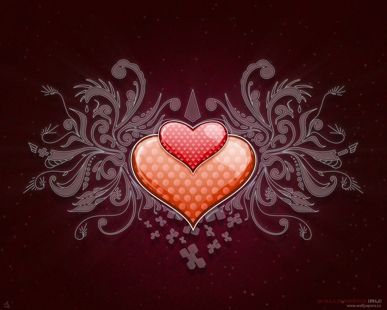 2092 download wallpaper Holidays, Background, Hearts, Love, Valentine's Day screensavers and pictures for free