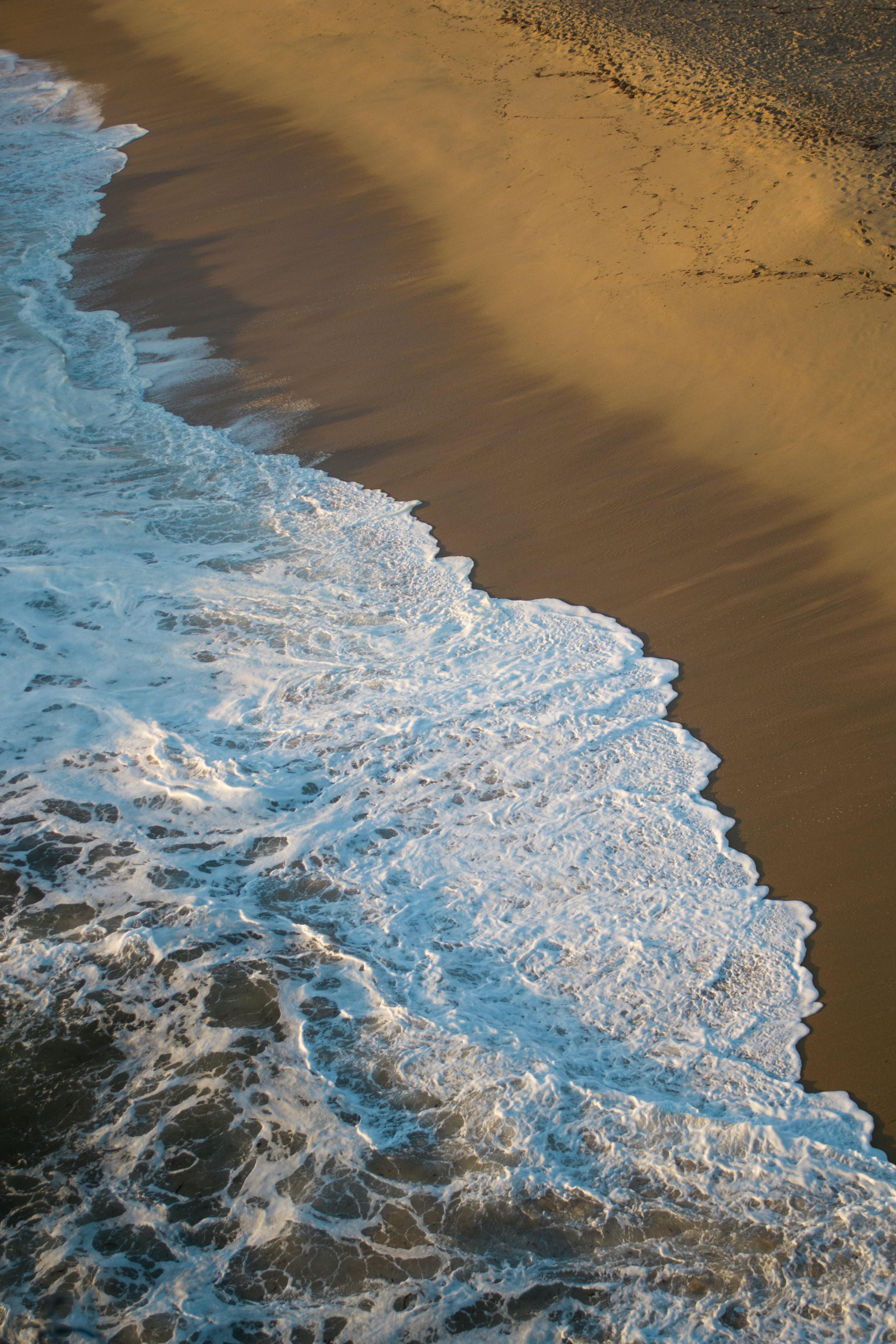 136669壁紙のダウンロード自然, ビーチ, ショア, 銀行, 水, サンド, 波-スクリーンセーバーと写真を無料で